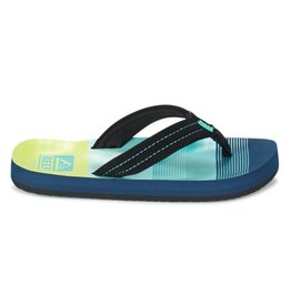 Reef Little AHI aqua green slippers kids