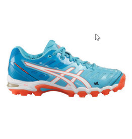 Asics Gel Hockey Typhoon 2 blauw hockeyschoenen dames