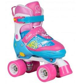 Rookie Adjustable Skate Fab Junior roze rolschaatsen meisjes