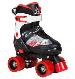 Rookie Adjustable Skate Ace Junior zwart rolschaatsen kids