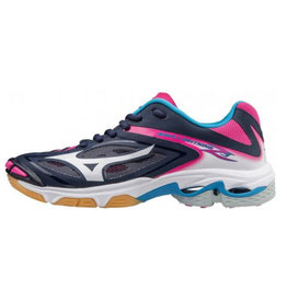 Mizuno Wave Lightning Z3 blauw fuchsia indoor schoenen dames