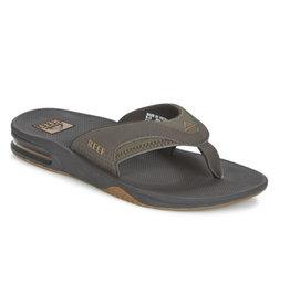 Reef Fanning brown gum slippers heren