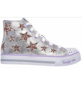Skechers Shuffles Rockin Stars zilver sneakers meisjes