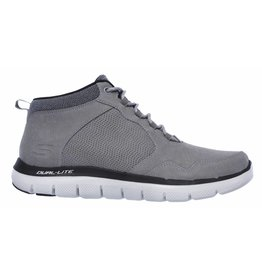Skechers Flex Advantage 2.0 mid grijs sneakers heren