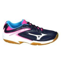 Mizuno Wave Lightning Star Z3 Jr zwart roze indoor schoenen meisjes