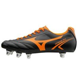 Mizuno Monarcida SI zwart oranje rugbyschoenen heren