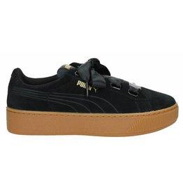Puma Vikky Platform Ribbon zwart sneakers dames