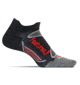 Feetures Elite Ultra Light zwart rood sportsokken uni