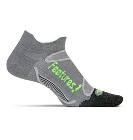 Feetures Elite Merino+ Ultra Light grijs sportsokken uni