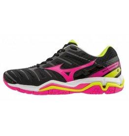 Mizuno Wave Stealth 4 zwart roze indoor schoenen dames