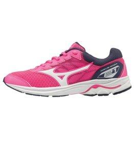Mizuno Wave Rider 21 Jr roze hardloopschoenen meisjes