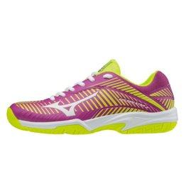 Mizuno Wave Exceed Star Jr 2 CC paars geel tennisschoenen kids