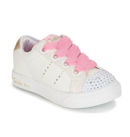 Skechers twinkle breeze 2.0 sidestars wit sneakers meisjes