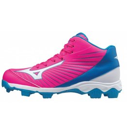 Mizuno 9-Spike Advance Franchise 9 Mid roze outdoor schoenen kids