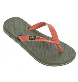 Ipanema Classic Brasil groen  oranje slippers kids