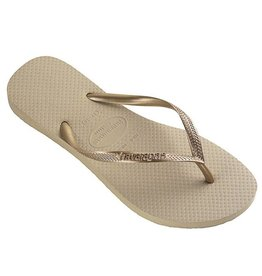 Havaianas Slim  sand golden slippers dames
