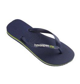 Havaianas Brasil logo blauw slippers uni