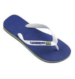 Havaianas Brasil logo marine blauw slippers kids