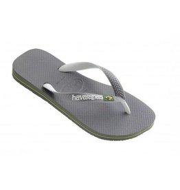 Havaianas Brasil mix grijs wit slippers uni