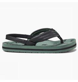 Reef Little AHI  groen vis slippers kids
