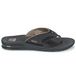 Reef Fanning zwart slippers heren