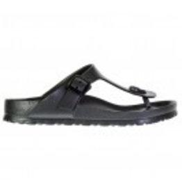 Birkenstock Gizeh Eva donkergrijs slippers dames