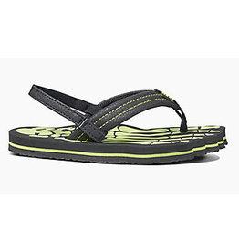 Reef Grom Skeleton groen slippers kids