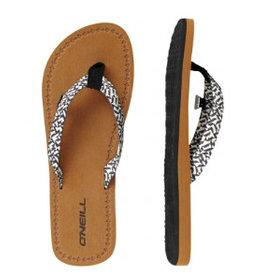 O'Neill FW Woven Strap zwart wit slippers dames