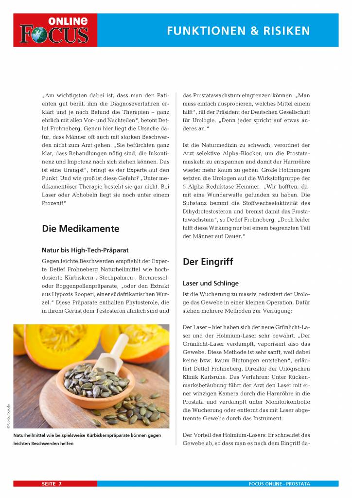 Prostata-Ratgeber - FOCUS Online PDF-Shop