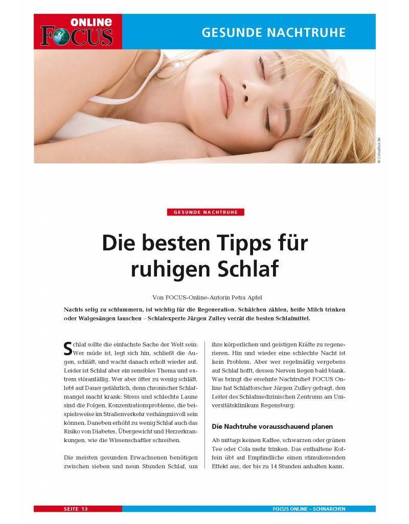 FOCUS Online Der Schlafstörer - Ratgeber Schnarchen