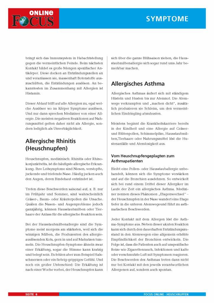FOCUS Online Allergien: Heuschnupfen