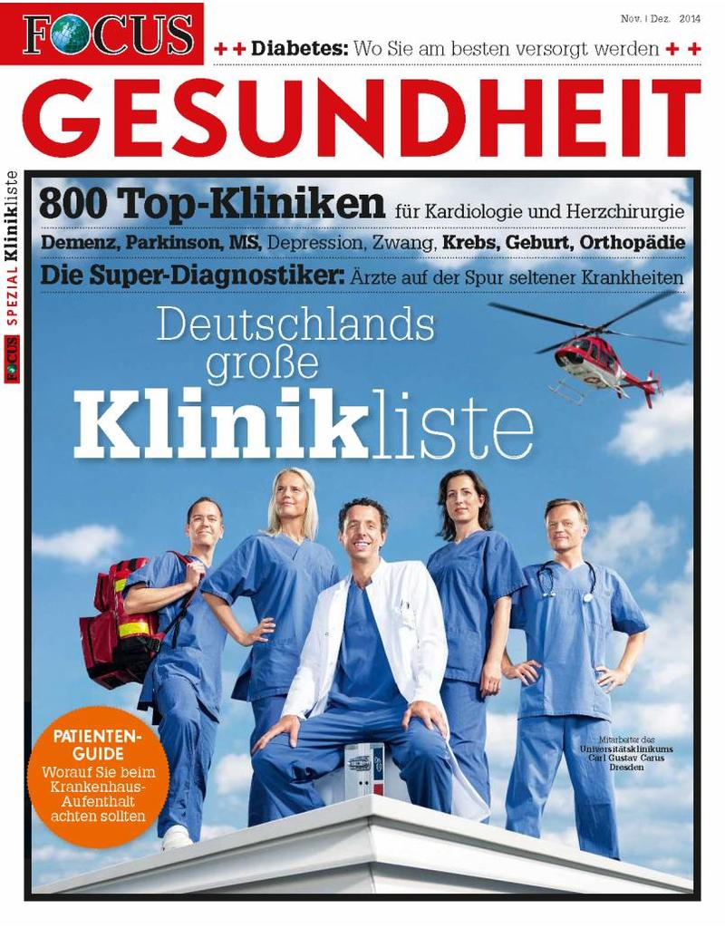 FOCUS Deutschlands große Klinikliste