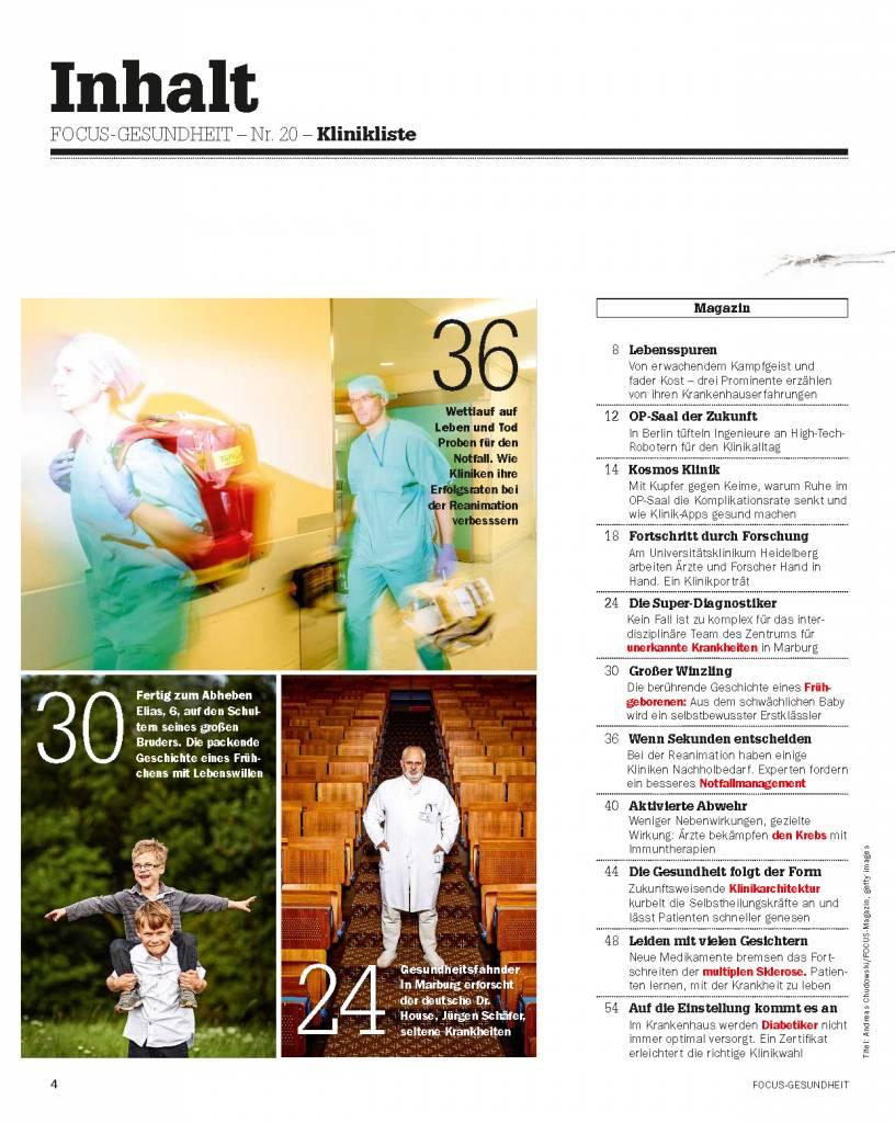 FOCUS Die besten Kliniken Deutschlands 2015