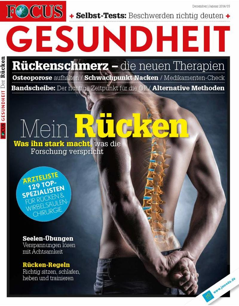 FOCUS FOCUS Gesundheit Rückenschmerzen 2014: Die neuen Therapien für einen gesunden und starken Rücken