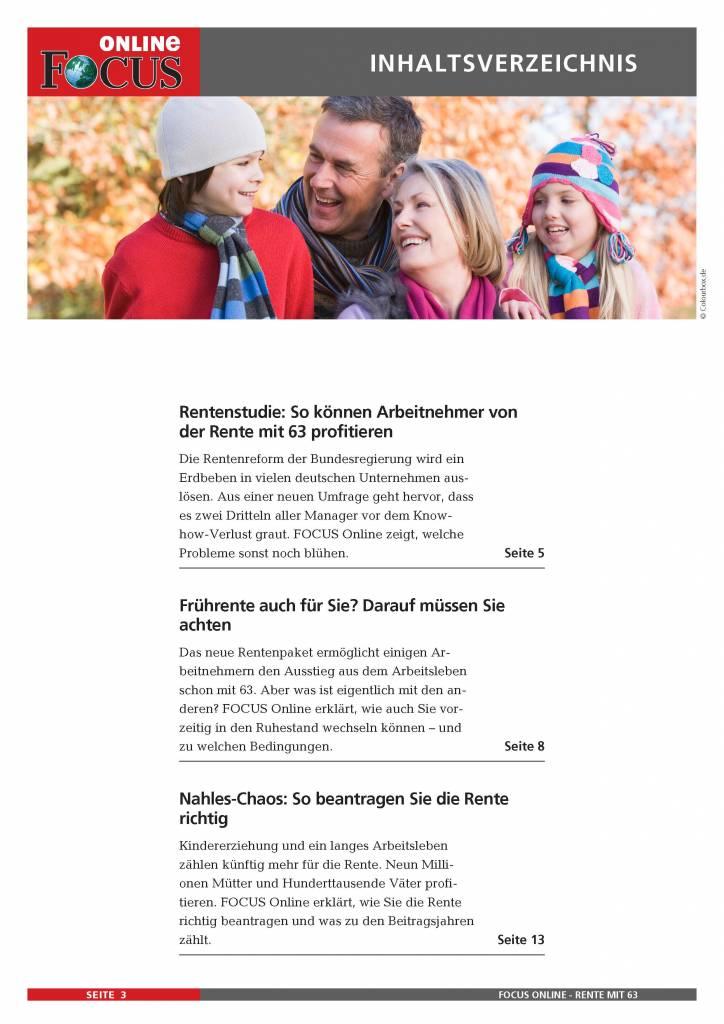 FOCUS Online Verdienter Ruhestand - Früher in Rente mit 63