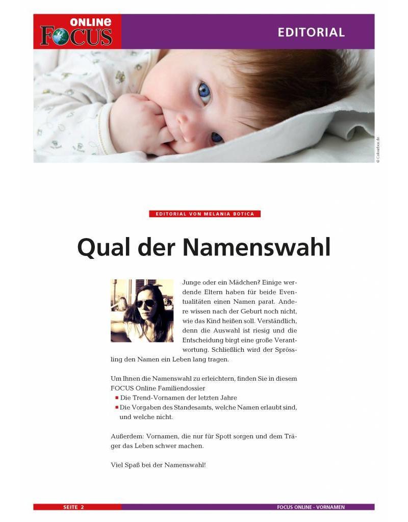 FOCUS Online Namenswahl für Ihr Kind