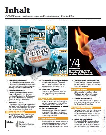 FOCUS FOCUS Spezial - Komplette-Anleitung zum Ausfüllen des Steuerformular