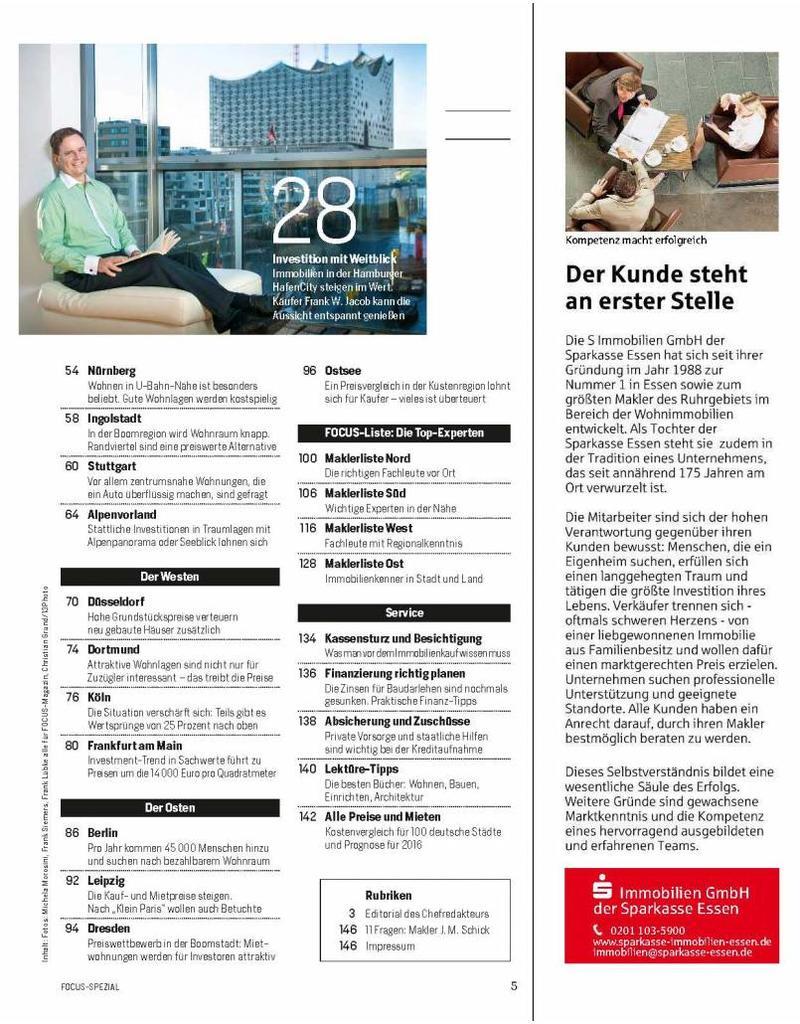 FOCUS Die besten Wohnlagen Deutschlands - 2015