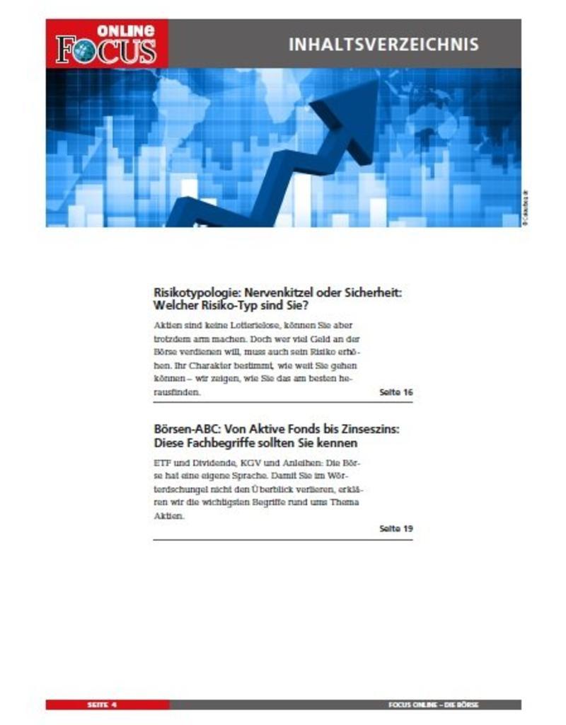 FOCUS Online Die Börse: Geld mit Aktien