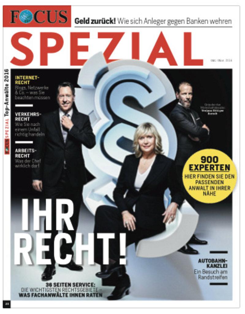 "FOCUS Focus Spezial ""Deutschlands Top-Anwälte 2016"""