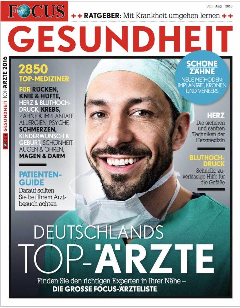 """FOCUS Focus Gesundheit """"Top-Ärzte 2016"""""""
