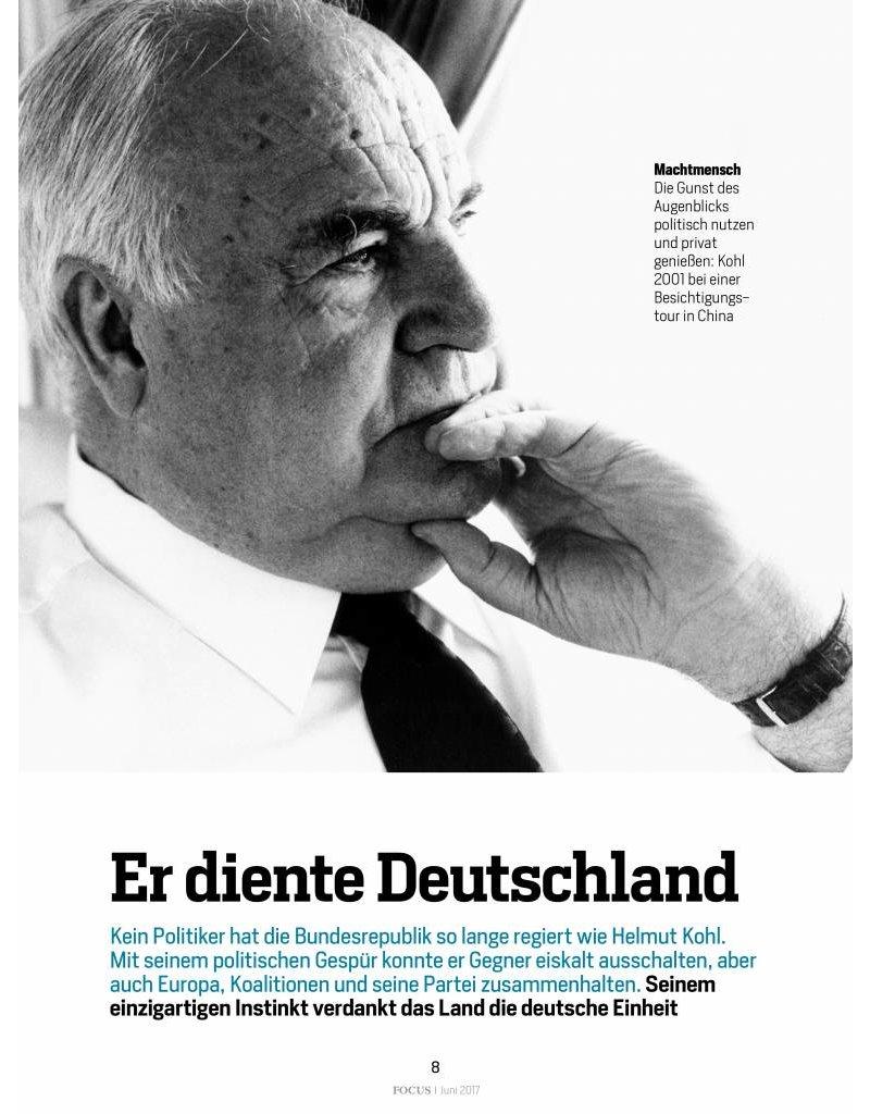 FOCUS Ein großer Deutscher - Helmut Kohl