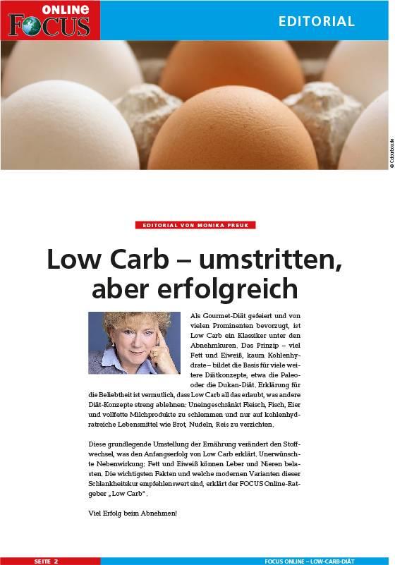 FOCUS Online Low-Carb-Ratgeber