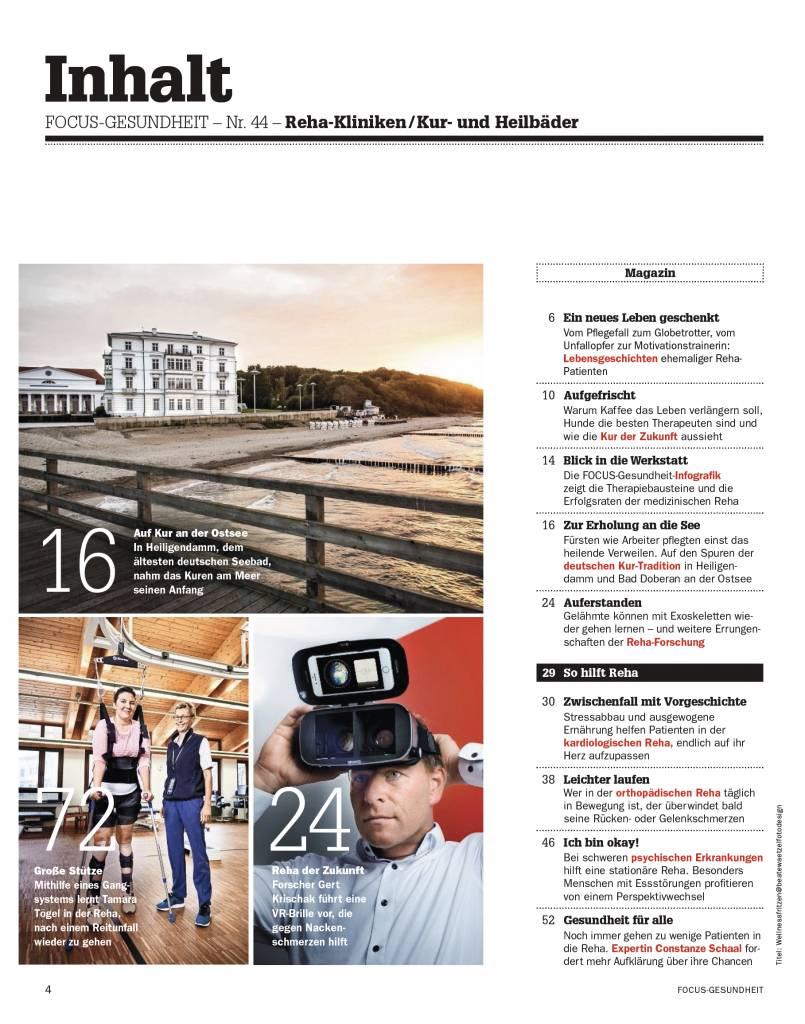 FOCUS Die besten Reha-Kliniken 2018