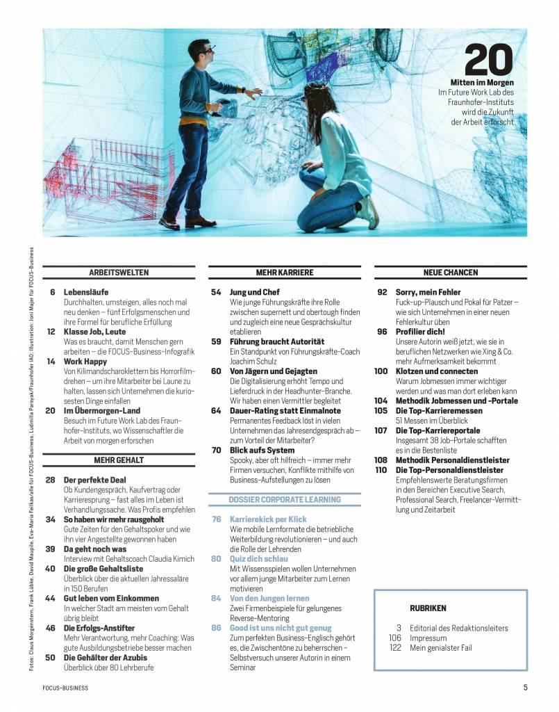 "FOCUS Focus Spezial ""Gehalt & Karriere""  2018"