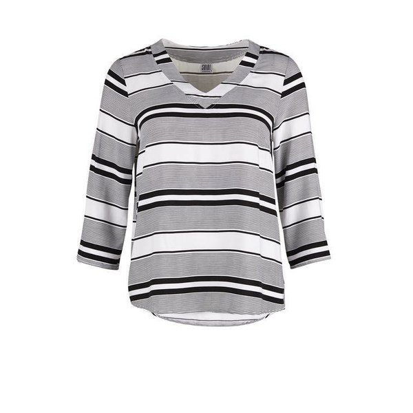 Blouse With Stripes White/Black.