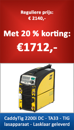 TIG lasapparaat Esab Caddy tig 2200