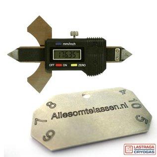 Vlamboog Lashoogtemeter - Metaal of digitaal