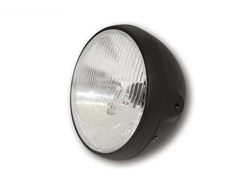 Matt black headlight (old-style glass)