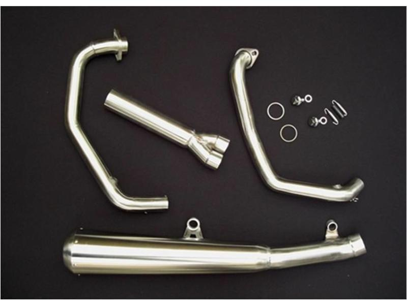 Complete 2-in-1 exhaust line (stainless steel)